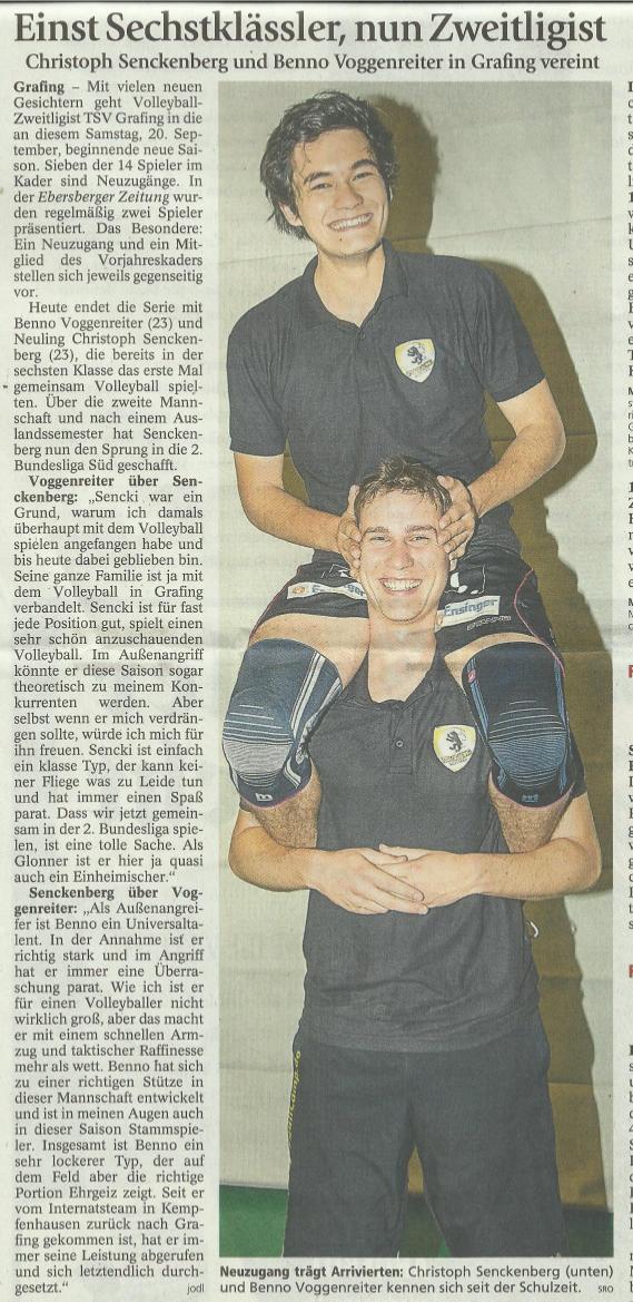 Artikel Ebersberger Zeitung 18.09.14