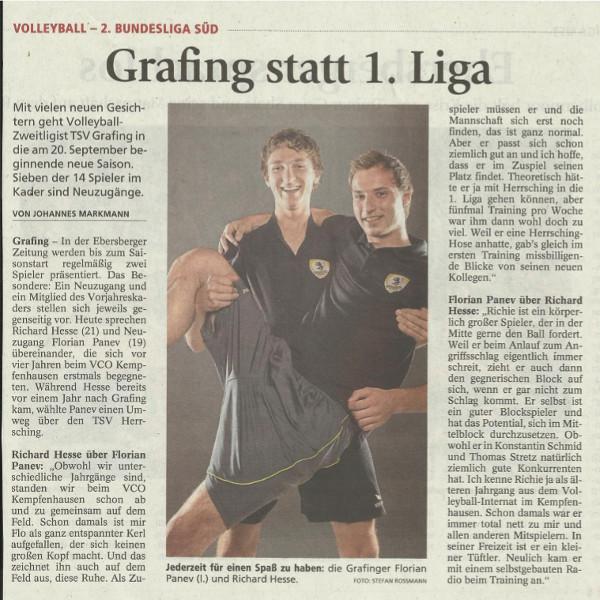 Grafing statt 1. Liga